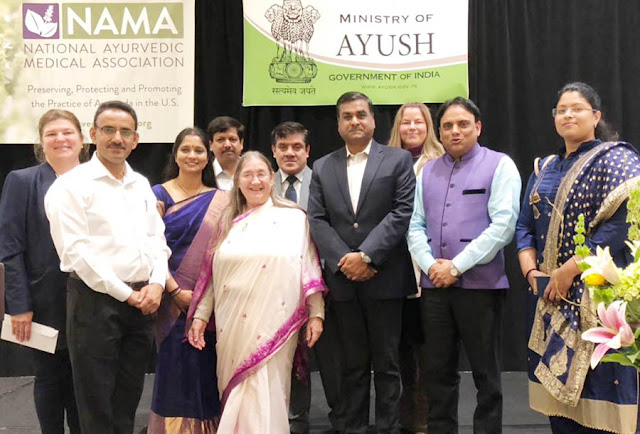 Dr. Pratap Chohan participated in the conference in Texas, meeting with Director and Ayush scholars