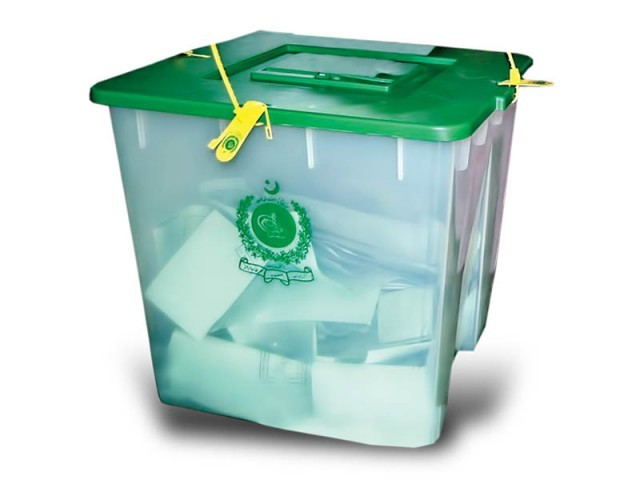 ballot box for elections in Pakistan