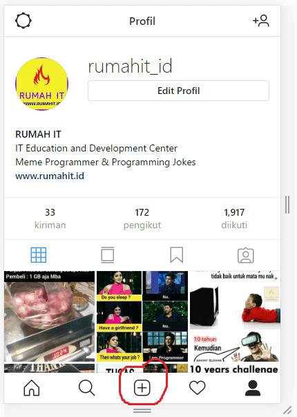 Begini Cara Posting Foto di Instagram PC