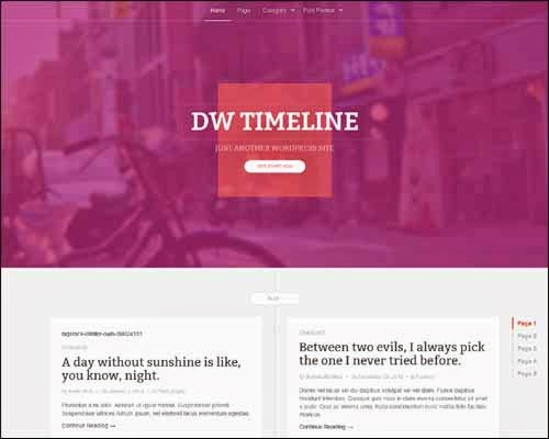 DW Timeline Free WordPress Theme