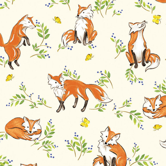Sew useful designs what does the fox say for Fox print fabric