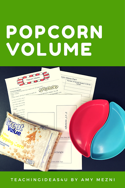 Teach volume using paper cylinders and popcorn - free download!