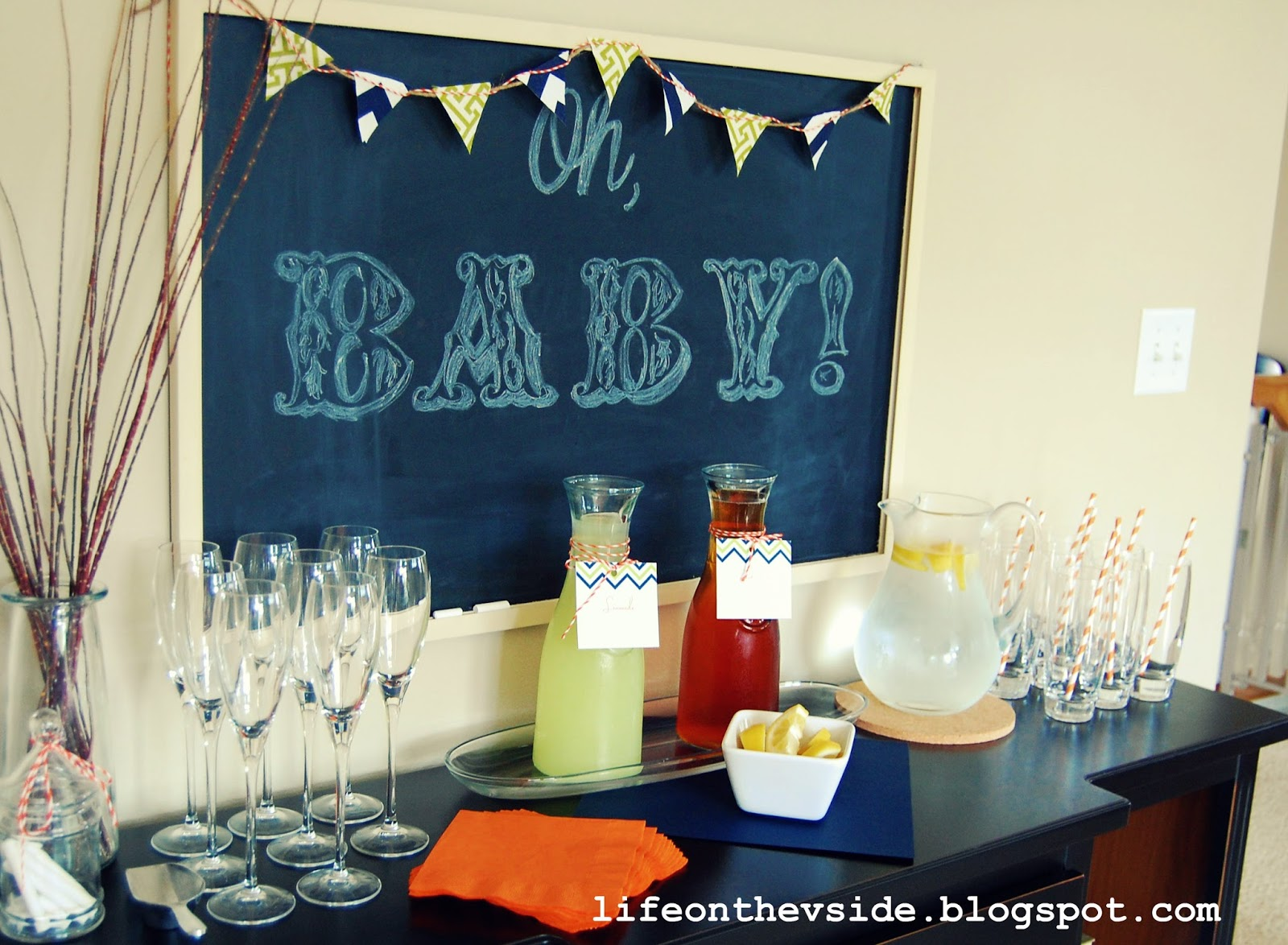 On the V Side Oh Baby Boy Baby Shower