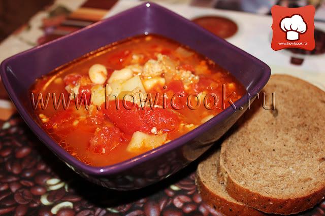 рецепт супа с фасолью