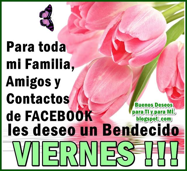 Para toda mi Familia, Amigos y  Contactos de FACEBOOK les deseo un Bendecido VIERNES !