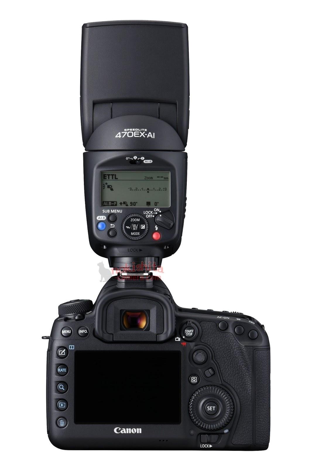 Вспышка Canon Speedlite 470EX-AI, вид сзади