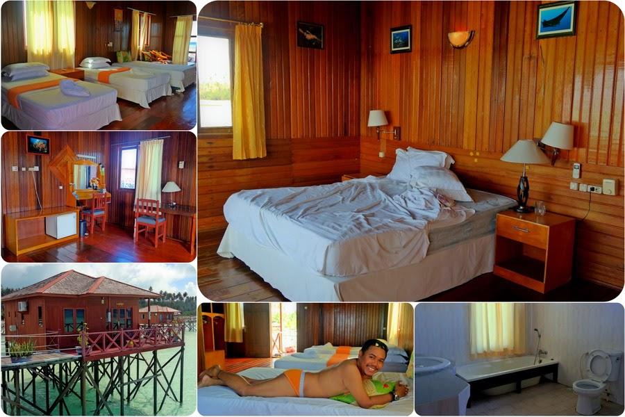 Kamar di Maratua Paradise Resort