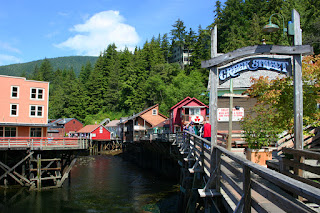 Creek Street, Ketchikan, Alaska's red-light district during the Gold Rush