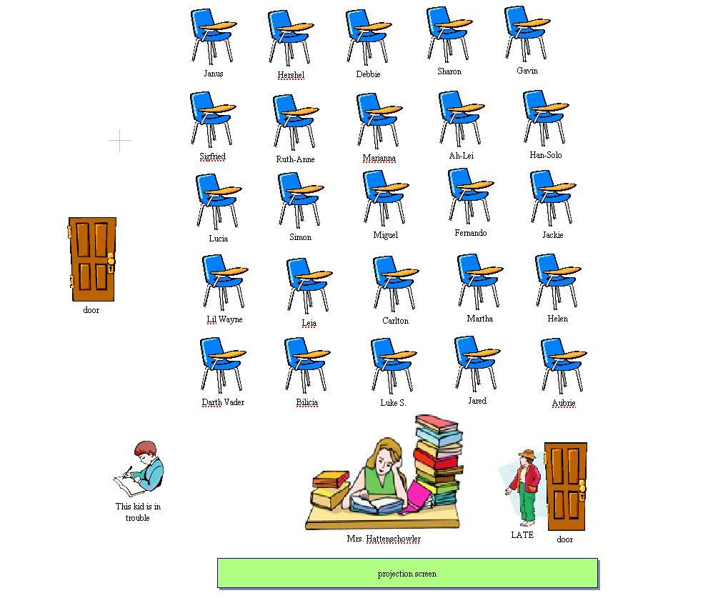 aubrie classroom seating chart