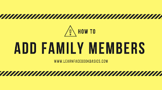 How do I add a family member to my About page?