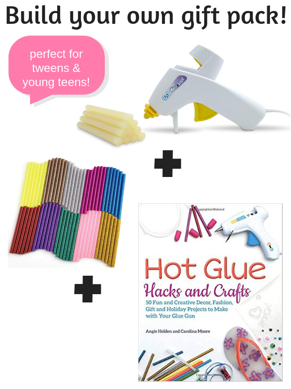 Need Christmas gift ideas for the girl obsessed with glue? These creative gifts for tween and young teen girls will help them make awesome DIY projects, hot glue crafts, gifts and more! Perfect for tweens and teens who love being crafty. #creativegreenchristmas #creativegreenliving #tweens #youngteens #tweengifts #teengifts #christmasgiftideas #giftguide #hotglue