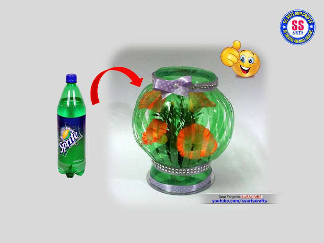 Here is Plastic Bottle Crafts,How to Reuse Plastic water Bottle in Home,Crafts from Plastic Bottle,Best out of waste craft ideas,Reuse,Recycle,Waste Material craft ideas,Plastic bottle crafts from kids,art&craft ideas for kids,How to Recycle Plastic bottle at home,Wall Decor ideas,How to make Show Piece out of Plastic Water Bottle ssartscrafts nanduri lakshmi youtube channel videos