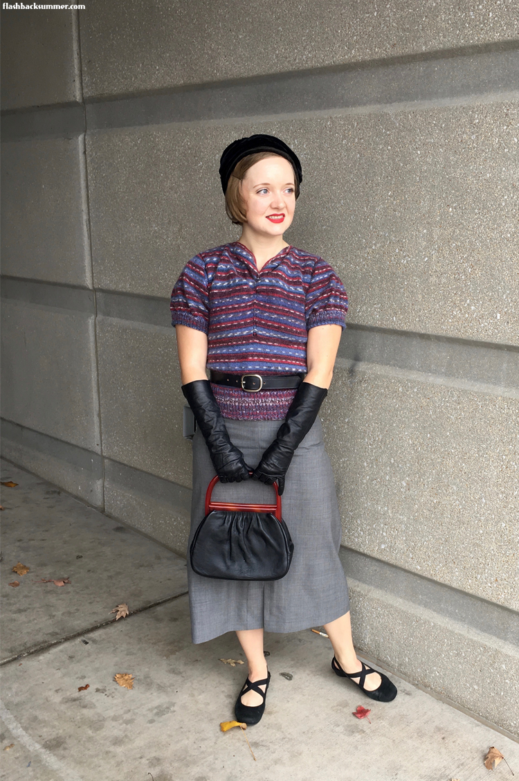 Flashback Summer: 1930s knitted Greta Sweater - Murder on the Orient Express