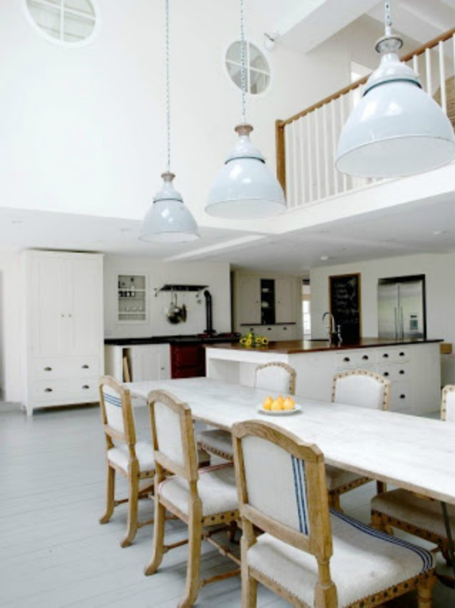 image result for beautiful white modern farmhouse kitchen in England by Plain English