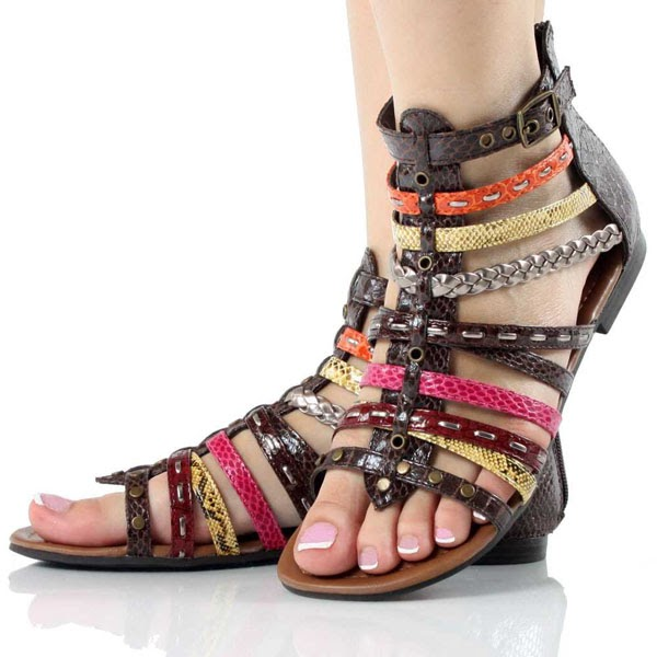 Shoes Trend 2012 Braided Sandals Summer Shoes For