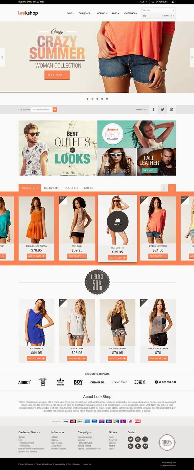 LookShop – E commerce Responsive Design Template