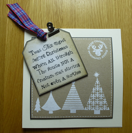 Twas the night before christmas Card using Woodware Stamps