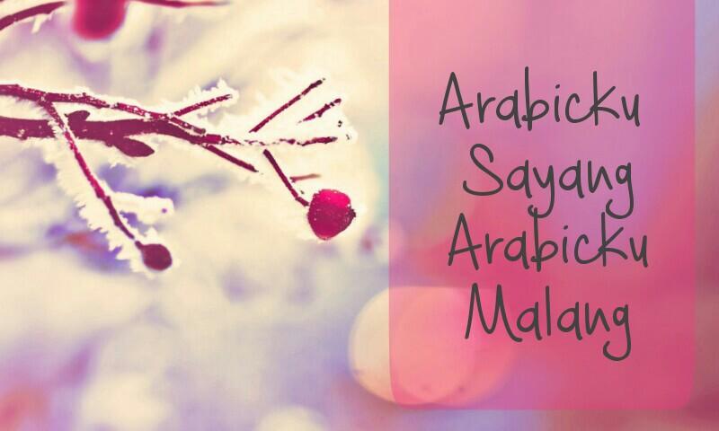 ~~ Arabic ku sayang, Arabic ku Malang ~~