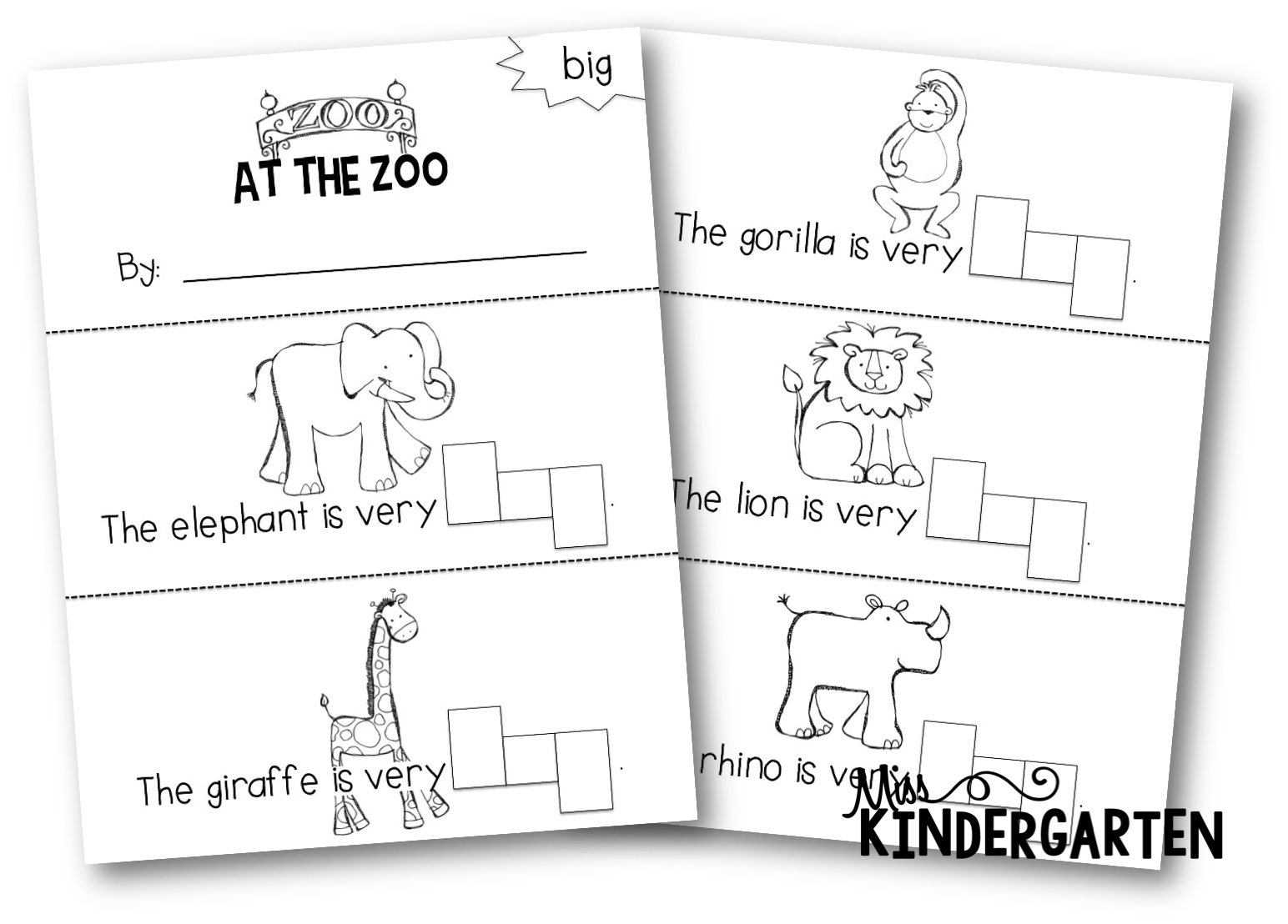 Stamping Sight Word Booklets Again