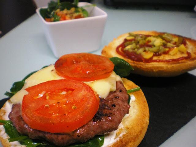 hamburguesa casera