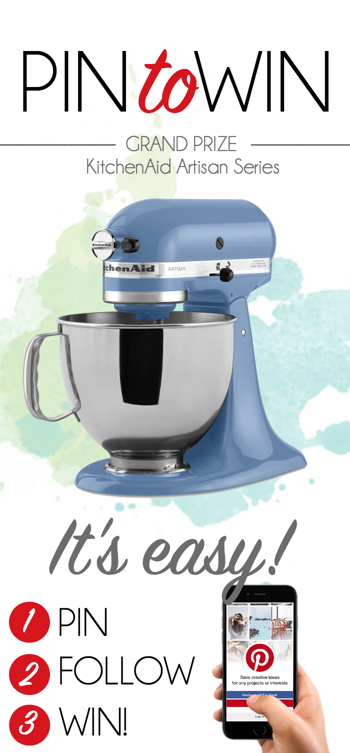 Win a brand new KitchenAid Artisan Stand Mixer!