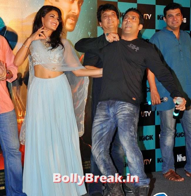Jacqueline Fernandez, Sajid Nadiadwala, Salman Khan and Siddharth Roy Kapur, Salman, Jacqueline sizzles at Kick Film Trailer Launch