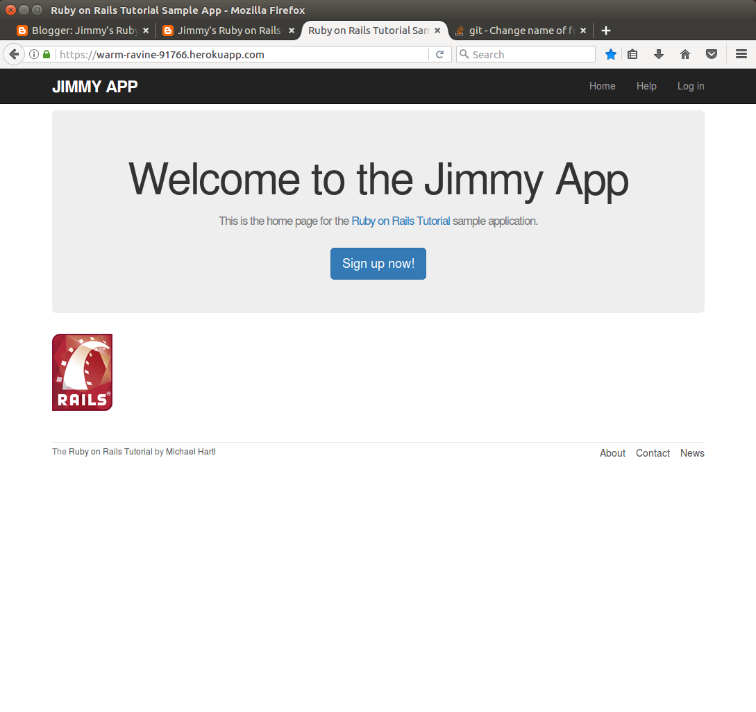 Jimmy's Ruby on Rails Quest: 2017