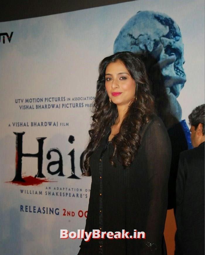 Tabu, Shraddha & Shahid Kapoor at 'Haider' Trailer Launch