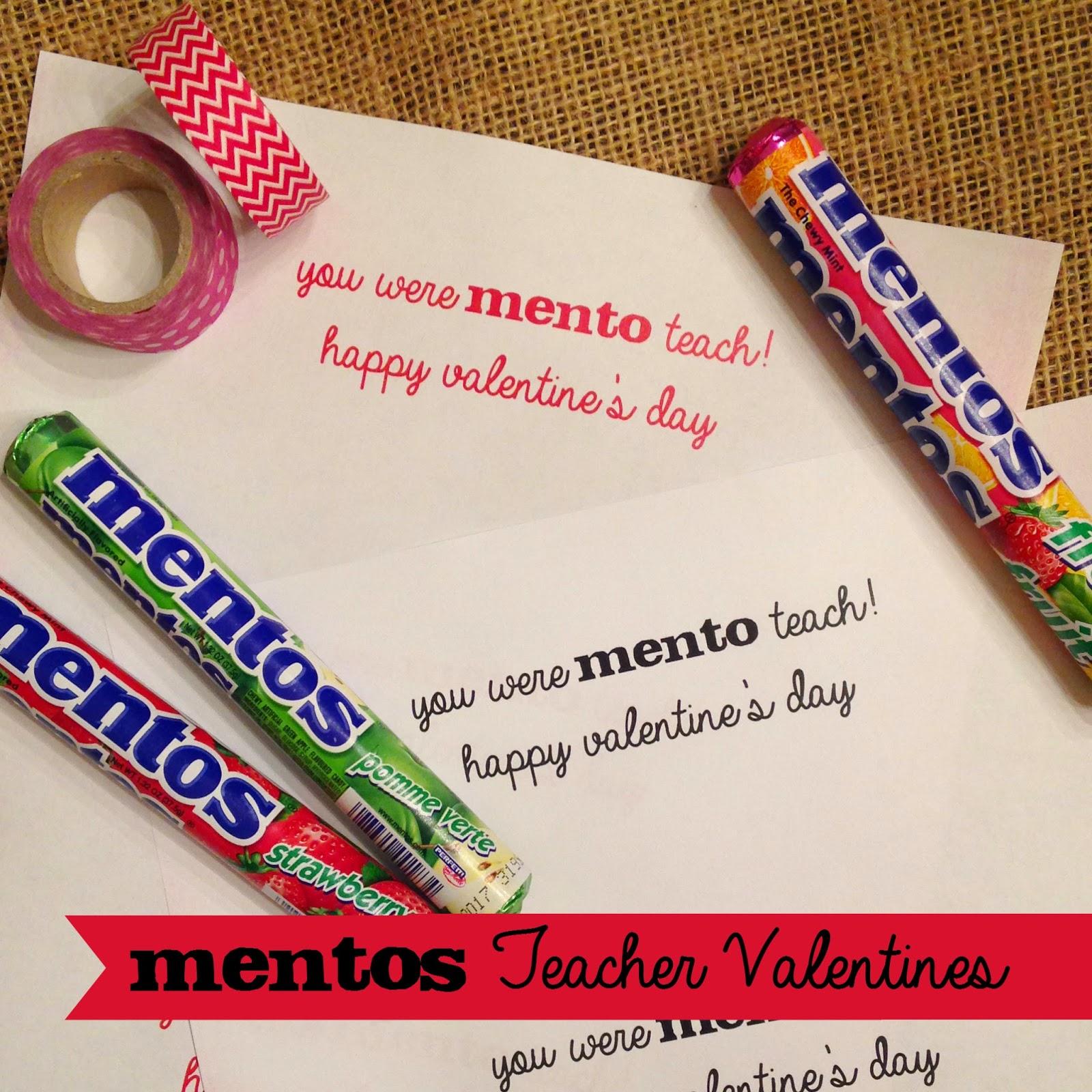 Mamahall Mentos Teacher Valentine Printables