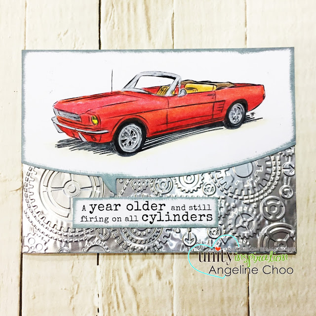 ScrappyScrappy: [NEW VIDEO] February Unity Stamp Blog Hop #scrappyscrappy #unitystampco #card #cardmaking #papercraft #craft #crafting #stamp #stamping #quicktipvideo #youtube #timholtz #distressoxide #texturedfades #vintagecar #prismacolor #emboss #allcylinders #happybirthday #birthdaycard