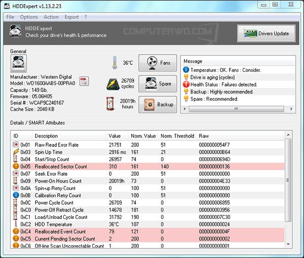 برنامج HDDExpert