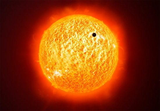 Trânsito planetário de Mercúrio no Sol