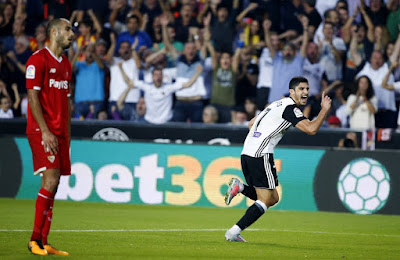 Crónica Valencia CF 4 - Sevilla FC 0