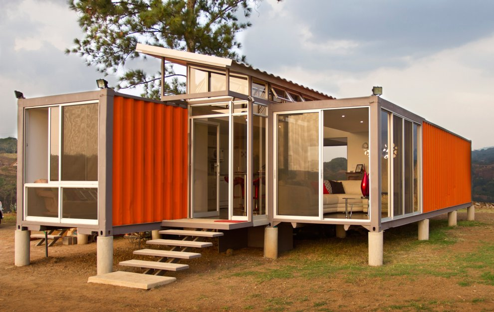 40 ft shipping container as house. Black Bedroom Furniture Sets. Home Design Ideas