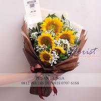 handbouquet bunga matahari, toko bunga dijakarta, toko bunga dijakarta utara