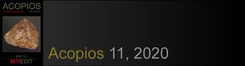 Acopios 11, 2020