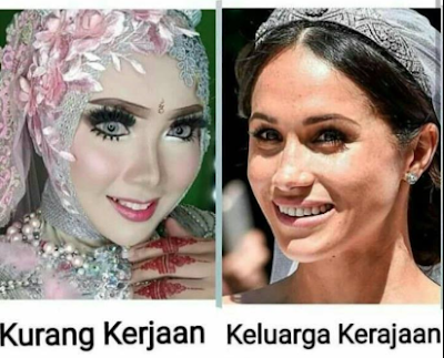make up Meghan Markle VS Manten Lokal
