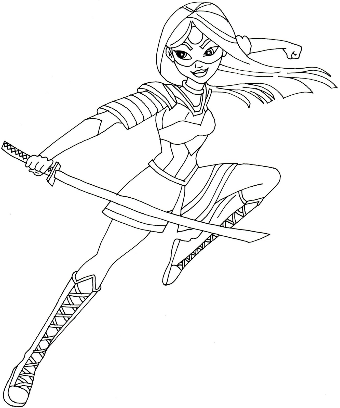 dc superhero coloring pages - free printable super hero high coloring pages katana