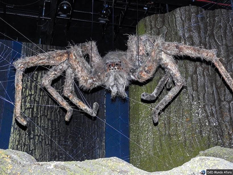 Aranha Aragog na Floresta proibida - Harry Potter em Londres