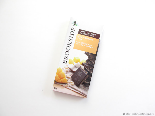 Brookside Chocolate Tablet Bars Review Mango Coconut Crisp
