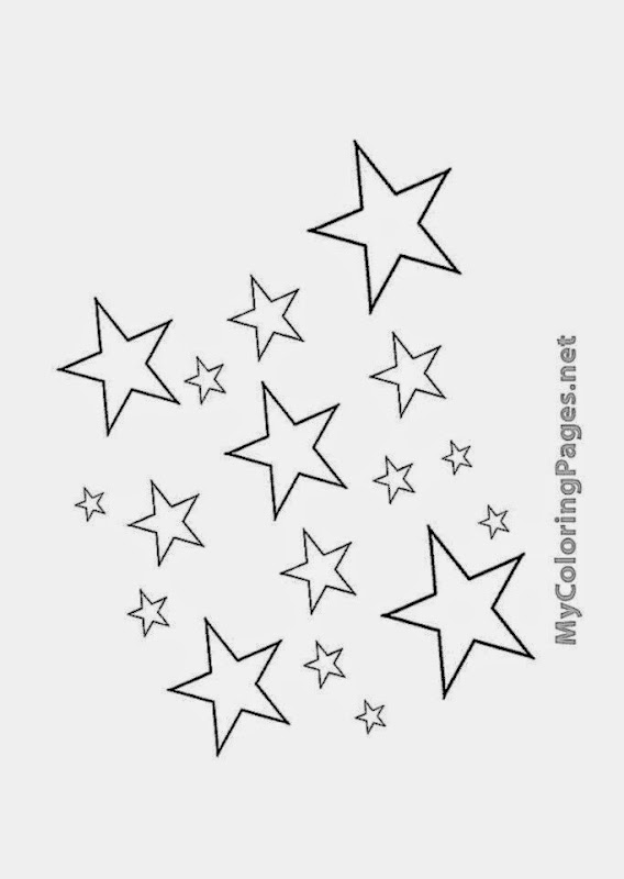 free coloring stars pages - photo#37