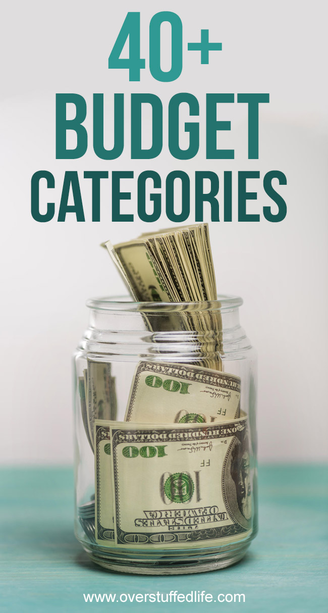 The secret to saving money is making sure you have budgeted everything you might spend it on. Here are over 40 budgeting categories to get you started.