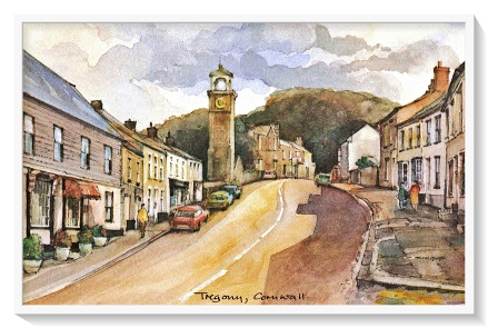 Postcard of Tregony, Cornwall from a painting