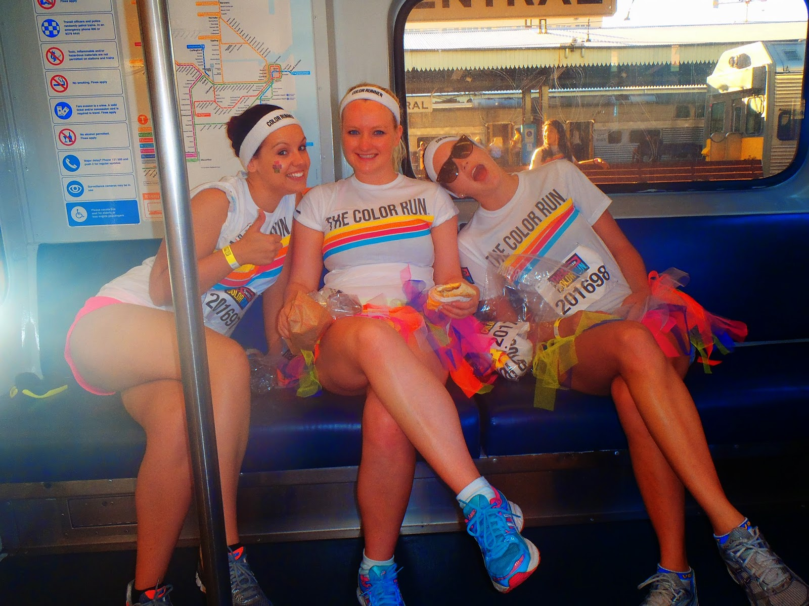 on the train before the race