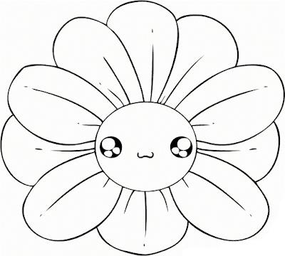 Gambar Mewarnai Bunga - 7
