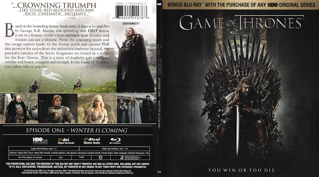 Game Of Thrones Season 1 Bluray Cover