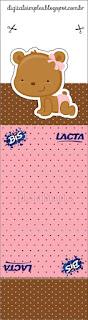 Envoltorios para Golosinas o Chicles para Imprimir Gratis de Osita Bebé.