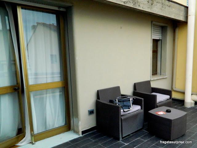 Terraço do apartamento do Hotel C-Diplomat, Florença