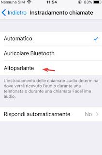 Vivavoce automatico iOS