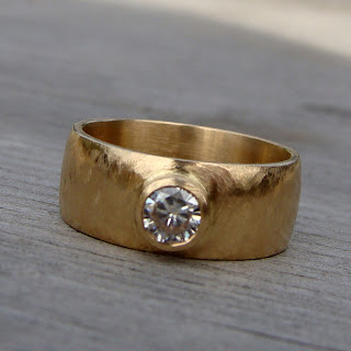wide moissanite band